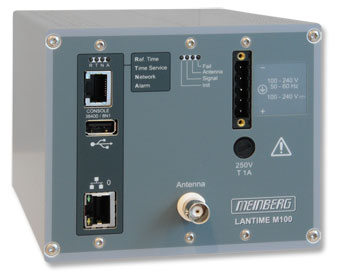 Network Time Server with GPS Reference Clock for DIN Rail Installations