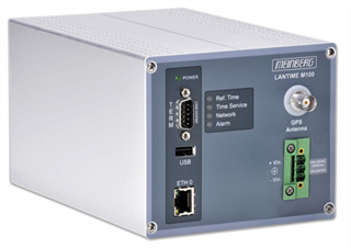 Compact railmount time server for small or medium networks